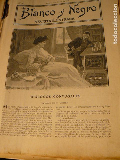 Coleccionismo de Revista Blanco y Negro: REVISTA BLANCO Y NEGRO AÑO 1905 - Foto 5 - 78589749
