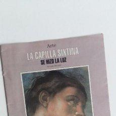 Coleccionismo de Revista Blanco y Negro: (SEVILLA) SEPARATA ABC BLANCO Y NEGRO LA CAPILLA SIXTINA. SE HIZO LA LUZ. JULIAN GALLEGO 1994. Lote 78971437