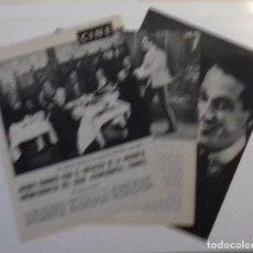 Coleccionismo de Revista Blanco y Negro: JACQUES CHARRIER HACE DE MAURICE CHEVALIER EN 1961, RECORTE (RE12) 5 PÁGINAS REVISTA ESE AÑO. Lote 80737162