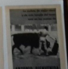 Coleccionismo de Revista Blanco y Negro: TORERO ANTONIO BIENVENIDA EN 1961 RECORTE (RE42) REVISTA BLANCO Y NEGRO ESE MISMO AÑO. Lote 80738034