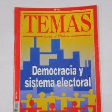Coleccionismo de Revista Blanco y Negro: TEMAS PARA EL DEBATE Nº 18. DEMOCRACIA Y SISTEMA ELECTORAL. TDKR33. Lote 34246732