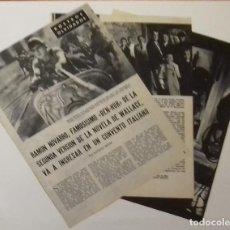 Coleccionismo de Revista Blanco y Negro: ACTOR RAMÓN NOVARRO ENTRA EN CONVENTO EN RECORTE DE 1961 (RE16) 5 PÁGINAS REVISTA BLANCO Y NEGRO. Lote 80905132