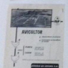 Coleccionismo de Revista Blanco y Negro: ANUNCIO AVÍCOLA JARAMA EN RECORTE (RE22) 1 PÁGINA REVISTA BLANCO Y NEGRO ESE AÑO. Lote 80905556