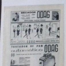 Coleccionismo de Revista Blanco y Negro: ANUNCIO ODAG EN 1961 EN RECORTE (RE26) 1 PÁGINA REVISTA BLANCO Y NEGRO ESE AÑO. Lote 80905932
