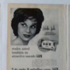 Coleccionismo de Revista Blanco y Negro: ANUNCIO JABÓN LUX EN 1961 EN RECORTE (RE53) 1 PÁGINA REVISTA BLANCO Y NEGRO DE ESE AÑO. Lote 80939472
