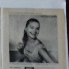 Coleccionismo de Revista Blanco y Negro: ANUNCIO CREMA POND'S EN 1961 EN RECORTE (RE54) 1 PÁGINA REVISTA BLANCO Y NEGRO DE ESE AÑO. Lote 80939880