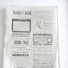 Coleccionismo de Revista Blanco y Negro: REVISTA ILUSTRADA BLANCO Y NEGRO NUM. 1073 DICIEMBRE DE 1911.. Lote 82504440