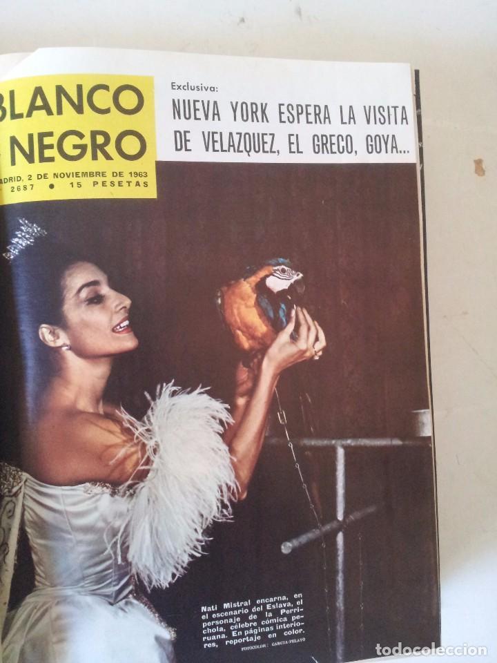 Coleccionismo de Revista Blanco y Negro: REVISTA BLANCO Y NEGRO AÑO 1963 - 1 TOMOS ENCUADERNADO - Foto 2 - 87580548