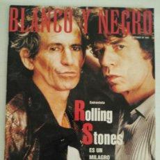 Coleccionismo de Revista Blanco y Negro: REVISTA BLANCO Y NEGRO 1997. ROLLING STONES. Lote 91057100