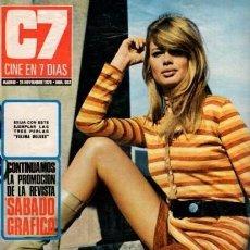 Coleccionismo de Revista Blanco y Negro: CINE EN 7 DIAS - Nº 503 / 28 N0VIEMBRE 1970 - PORTADA : ULLA STRINDBERG. Lote 92916910