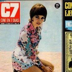 Coleccionismo de Revista Blanco y Negro: CINE EN 7 DIAS - Nº 519 / 20 MARZO 1971 - PORTADA : MICHÉLLE MERCIER. Lote 92917620
