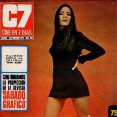 Coleccionismo de Revista Blanco y Negro: CINE EN 7 DIAS - Nº 507 / 26 DICIEMBRE 1970 - PORTADA : PILAR VELAZQUEZ. Lote 92918005