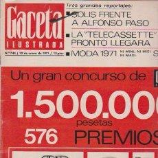 Coleccionismo de Revista Blanco y Negro: GACETA ILUSTRADA - Nº 744 / 10 ENERO 1971. Lote 92934710