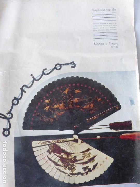 SUPLEMENTO REVISTA BLANCO Y NEGRO Nº 34 SOBRE ABANICOS JAPONESES DE MARFIL Y LACA DE MEDIADOS S.XIX (Coleccionismo - Revistas y Periódicos Modernos (a partir de 1.940) - Blanco y Negro)
