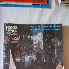 Coleccionismo de Revista Blanco y Negro: PUNTO Y HORA DE EUSKAL HERRIA Nº414 1985. Lote 95947379