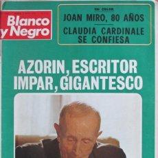 Coleccionismo de Revista Blanco y Negro: BLANCO Y NEGRO 3183 1973 AZORIN, JOAN MIRO, CLAUDIA CARDINALE, FITTIPALDI, ILIE NASTASE, BORGES. Lote 98212315