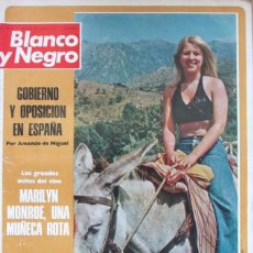 Coleccionismo de Revista Blanco y Negro: BLANCO Y NEGRO 3194 1973 MARBELLA, MARILYN MONROE, BRIGITTE BARDOT, EL TOTO, PALOMA PASO, OCAÑA. Lote 98295695