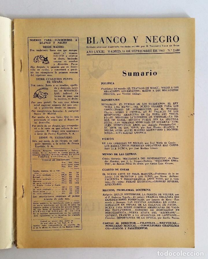 Coleccionismo de Revista Blanco y Negro: BLANCO Y NEGRO 2680, SEPTIEMBRE 1963. TRATADO DE MOSCÚ - EXAMEN DE CONDUCIR Y MÁS REPORTAJES. - Foto 2 - 263051365
