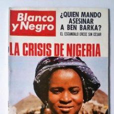 Coleccionismo de Revista Blanco y Negro: BLANCO Y NEGRO 2804, ENERO 1966. NIGERIA - BEN BARKA - RONDA - RAFAEL GIL - EL CIRCO Y MÁS REPORTAJS. Lote 102526227