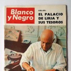 Coleccionismo de Revista Blanco y Negro: BLANCO Y NEGRO 2805, FEBRERO 1966. PICASSO - CATASTROFE MONT-BLANC - WATERLOO - PALACIO DE LIRIA Y +. Lote 102526423