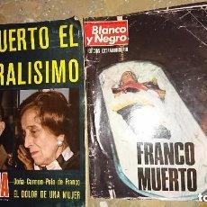 Coleccionismo de Revista Blanco y Negro: 2 REVISTAS NOVIEMBRE 1975 MUERTE FRANCO SEMANA Nº 1867 Y BLANCO Y NEGRO Nº 3316. Lote 104772911
