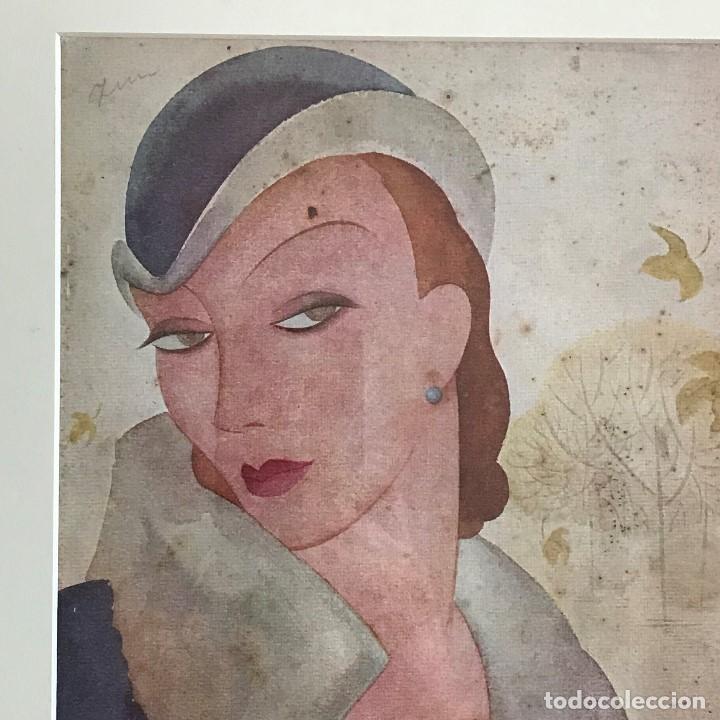 Coleccionismo de Revista Blanco y Negro: Portada revista Blanco y negro art deco enmarcada - Foto 2 - 112446307