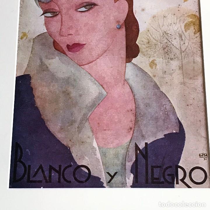 Coleccionismo de Revista Blanco y Negro: Portada revista Blanco y negro art deco enmarcada - Foto 3 - 112446307