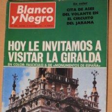 Coleccionismo de Revista Blanco y Negro: REVISTA BLANCO Y NEGRO 2898 AÑO 1967. CIRCUITO DEL JARAMA. GIRALDA DE SEVILLA. JACQUELINE KENNEDY. Lote 113514575