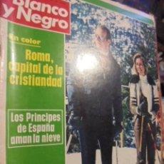Coleccionismo de Revista Blanco y Negro: ROMA CAPITAL CRISTIANDAD - PRINCIPES JUAN CARLOS SOFIA EN BAQUEIRA - BLANCO NEGRO 3282 - 1975 HARO. Lote 116836827
