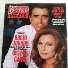 Coleccionismo de Revista Blanco y Negro: BLANCO Y NEGRO. SEMANARIO ABC. ROCÍO JURADO Y ORTEGA CANO. FIDEL CASTRO. TRES TENORES. MAFIA. Lote 118342906