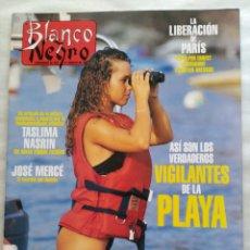 Coleccionismo de Revista Blanco y Negro: BLANCO Y NEGRO. SEMANARIO ABC. VIGILANTES DE LA PLAYA. JOSÉ MERCÉ. LIBERACIÓN DE PARÍS. RAPA-NUI. Lote 118344426