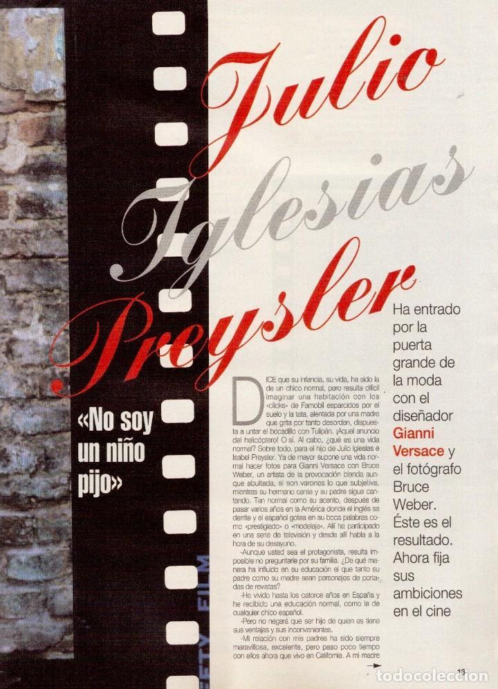 Coleccionismo de Revista Blanco y Negro: 1996. JULIO IGLESIAS PREYSLER.ESPERANZA CAMPUZANO.JUDIT MASCÓ. NUEVA HARLEY DAVIDSON. VER SUMARIO... - Foto 4 - 120107231