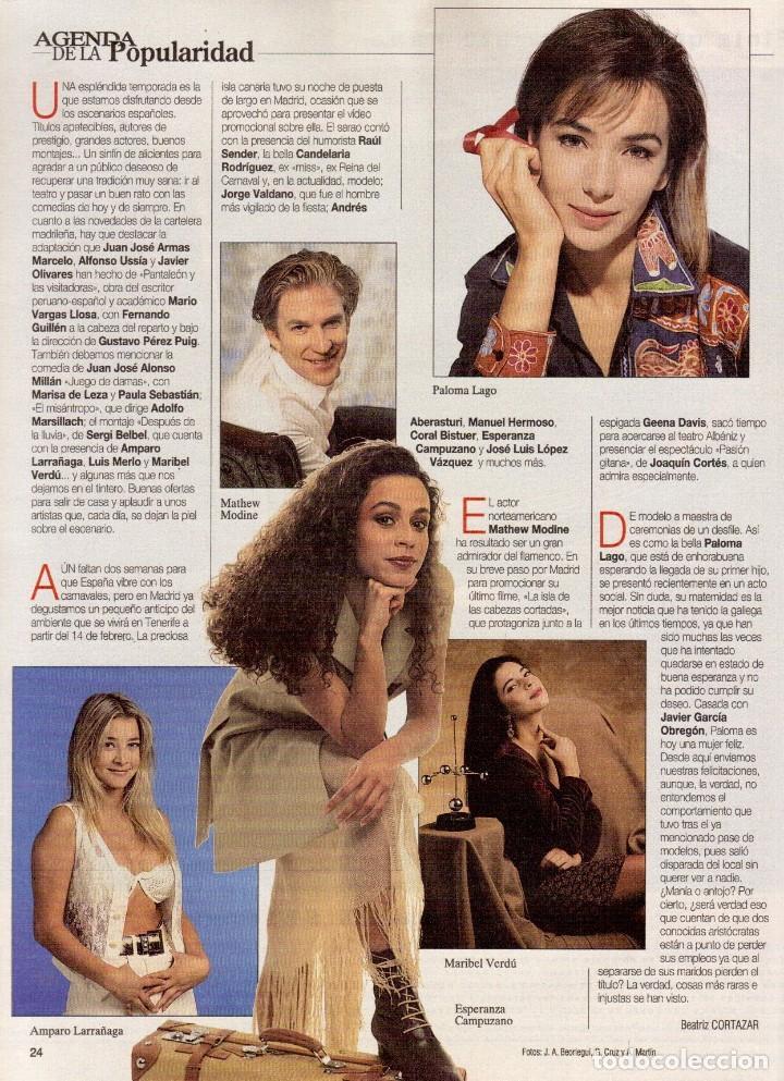 Coleccionismo de Revista Blanco y Negro: 1996. JULIO IGLESIAS PREYSLER.ESPERANZA CAMPUZANO.JUDIT MASCÓ. NUEVA HARLEY DAVIDSON. VER SUMARIO... - Foto 7 - 120107231