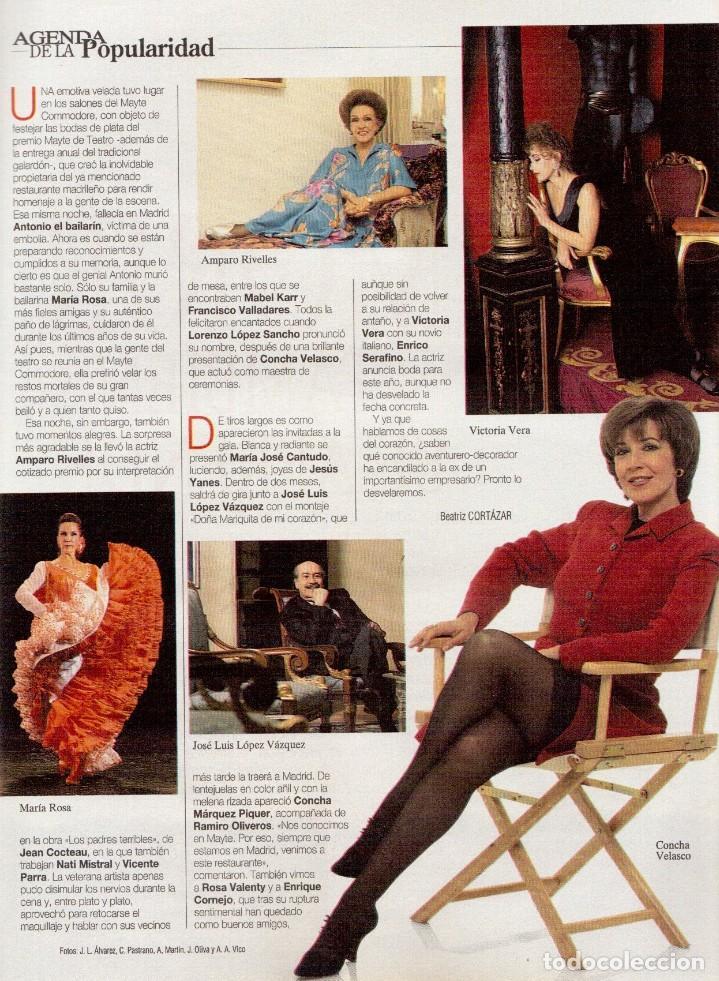 Coleccionismo de Revista Blanco y Negro: 1996. CINDY CRAWFORD.MARÍA ROSA.CONCHA VELASCO.VICTORIA VERA.JUDIT MASCÓ. VER SUMARIO... - Foto 5 - 120109783