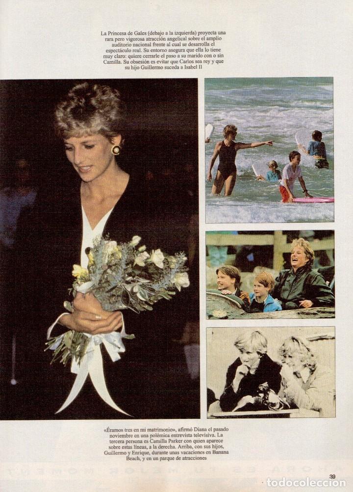 Coleccionismo de Revista Blanco y Negro: 1996. VALERIA MAZZA. LA BATALLA DE GALES - EL DIVORCIO DE CARLOS Y DIANA -. VER SUMARIO... - Foto 10 - 120135391