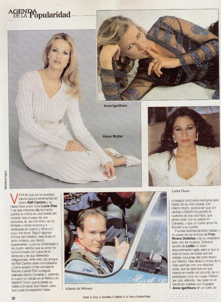 Coleccionismo de Revista Blanco y Negro: 1996. PENÉLOPE CRUZ.FRANCISCO LÓPEZ - ISABEL QUINTANILLA.LOLITA FLORES. KAREN MULDER. VER SUMARIO... - Foto 6 - 120137555