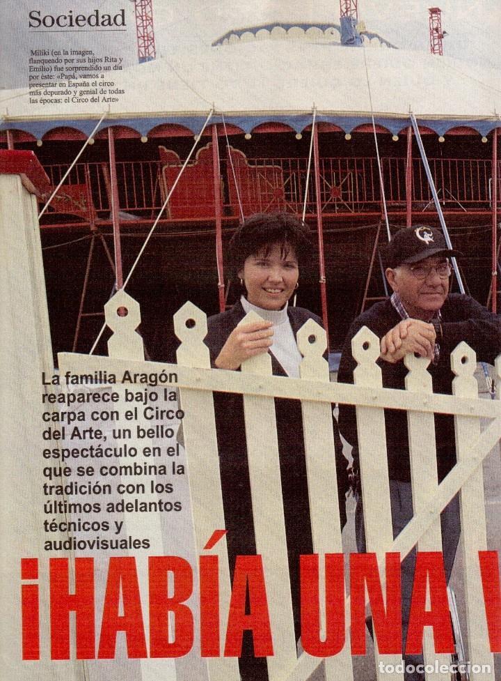 Coleccionismo de Revista Blanco y Negro: 1996. LA FAMILIA ARAGÓN REAPARECE. NACHO CANO de MECANO. CINDY CRAWFORD Y SHAQUILLE O´NEAL. - Foto 3 - 120141075