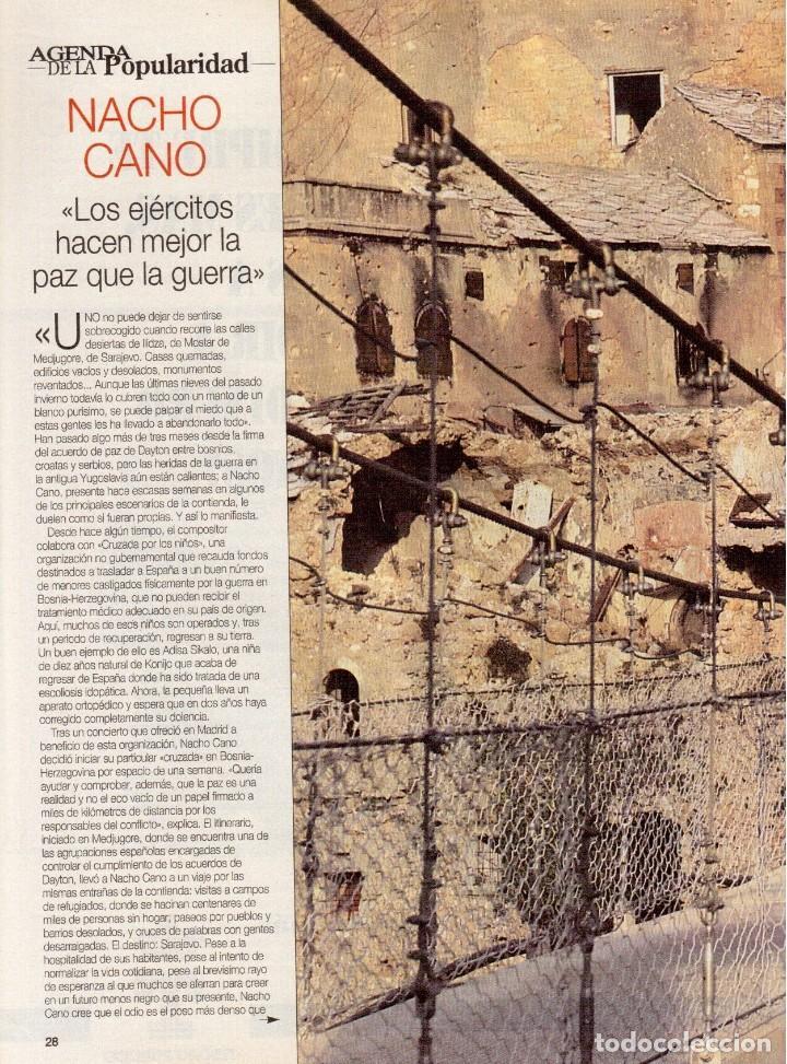 Coleccionismo de Revista Blanco y Negro: 1996. LA FAMILIA ARAGÓN REAPARECE. NACHO CANO de MECANO. CINDY CRAWFORD Y SHAQUILLE O´NEAL. - Foto 6 - 120141075