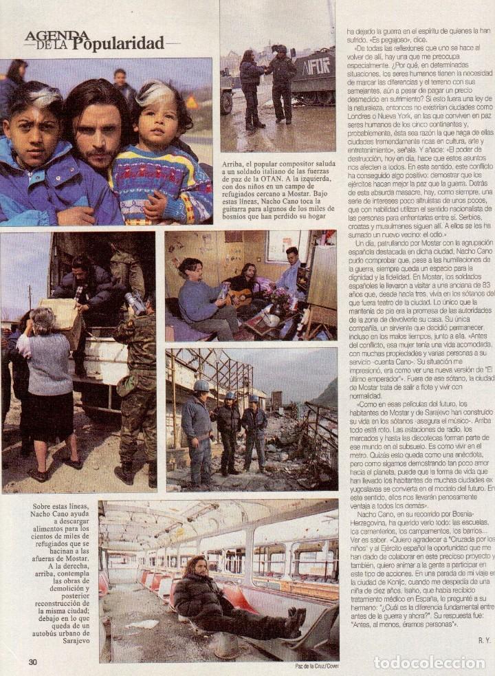 Coleccionismo de Revista Blanco y Negro: 1996. LA FAMILIA ARAGÓN REAPARECE. NACHO CANO de MECANO. CINDY CRAWFORD Y SHAQUILLE O´NEAL. - Foto 8 - 120141075