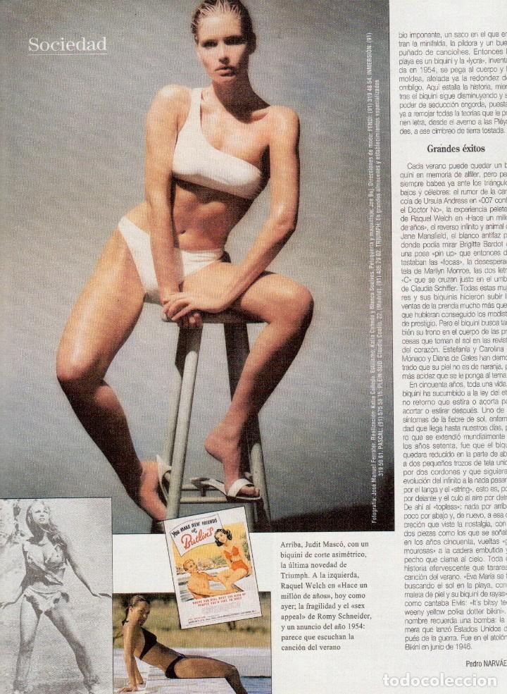 Coleccionismo de Revista Blanco y Negro: 1996. EUGENIA SANTANA. ELSA ANKA. YVONNE REYES. ISABEL SERRANO. JOAQUÍN CORTÉS. SUMARIO... - Foto 9 - 120178615