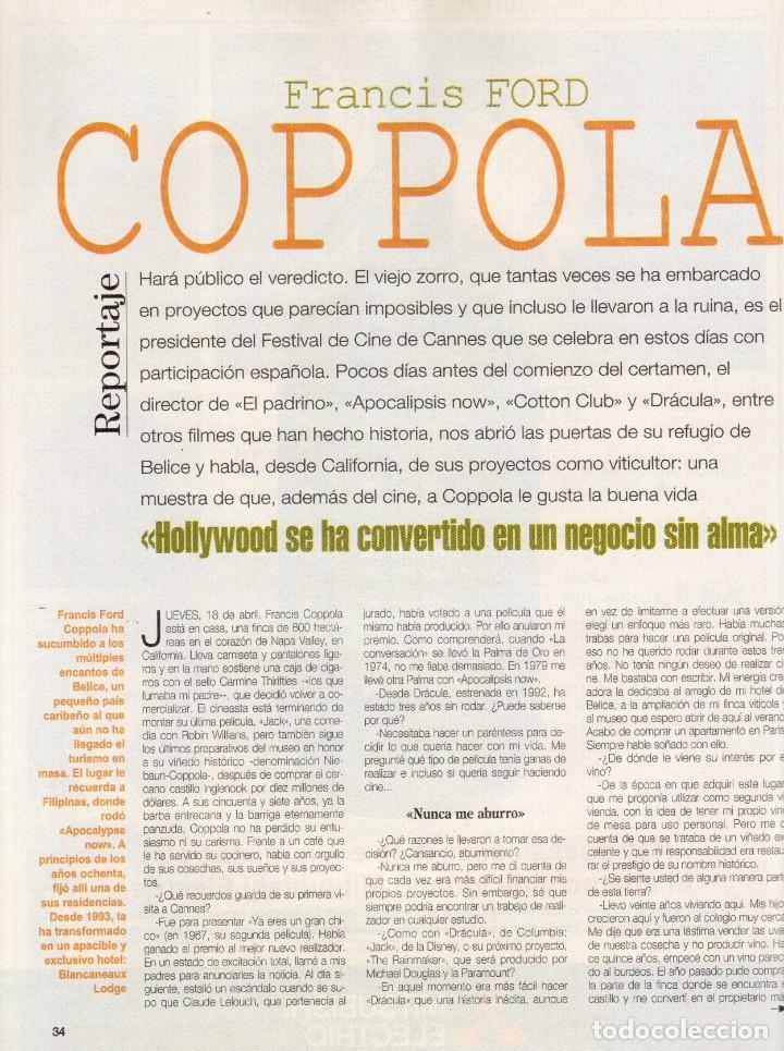 Coleccionismo de Revista Blanco y Negro: 1996. CRISTINA SÁNCHEZ. BLANCA SUELVES.FABIO CAPELLO.MÓNICA BELLUCI. VER SUMARIO... - Foto 8 - 120186975
