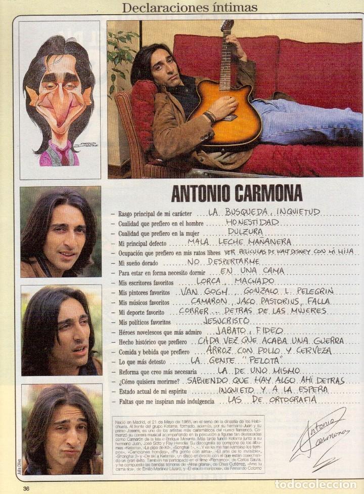 Coleccionismo de Revista Blanco y Negro: 1996. PONCE VS JOSELITO. INÉS SASTRE. AZÚCAR MORENO. EMMANUELLE BEART. VER SUMARIO... - Foto 10 - 120202647