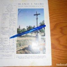 Coleccionismo de Revista Blanco y Negro: RECORTE PRENSA : CRUCERO Y CASTILLO DE OLMILLOS DE SASAMON (BURGOS). BLANCO Y NEGRO, FEBRERO 1958. Lote 121964763