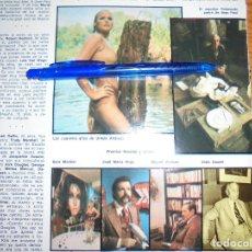 Coleccionismo de Revista Blanco y Negro: RECORTE PRENSA : LOS CUARENTA AÑOS DE URSULA ANDRESS . BLANCO Y NEGRO, FBRO 1976. Lote 121969491