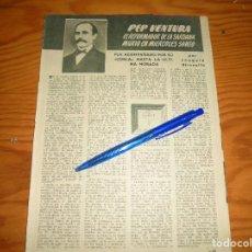 Coleccionismo de Revista Blanco y Negro: RECORTE PRENSA : PEP VENTURA: EL REFORMADOR DE LA SARDANA. GARBO, ABRIL 1955. Lote 121969803