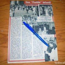 Coleccionismo de Revista Blanco y Negro: RECORTE PRENSA : LA PASION INFANTIL EN BARCELONA. GARBO, ABRIL 1955. Lote 121969903