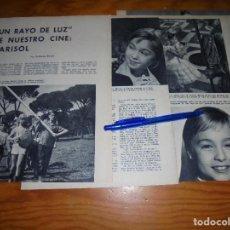 Coleccionismo de Revista Blanco y Negro: RECORTE PRENSA : MARISOL EN LA PELICULA, UN RAYO DE SOL . BLANCO Y NEGRO, JULIO 1960. Lote 122196491