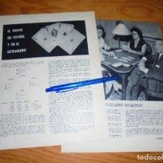 Coleccionismo de Revista Blanco y Negro: RECORTE PRENSA : EL BRIDGE EN ESPAÑA Y EN EL EXTRANJERO . BLANCO Y NEGRO, JULIO 1960. Lote 122196591