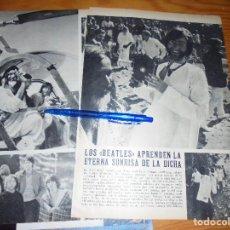 Coleccionismo de Revista Blanco y Negro: RECORTE PRENSA : LOS BEATLES EN LA INDIA CON MAHESH YOGI. BLANCO Y NEGRO, MARZO, 1968. Lote 122197391