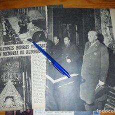 Coleccionismo de Revista Blanco y Negro: RECORTE PRENSA : SOLEMNES HONRAS FUNEBRES EN MEMORIA DE ALFONSO XIII. BLANCO Y NEGRO, MARZO, 1968. Lote 122197503